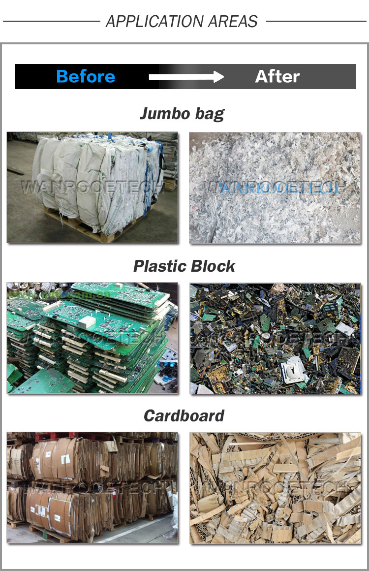 PP Woven Bag, Big Bag, Raffia Bag, Bulky Bag, Jumbo bag Shredder application